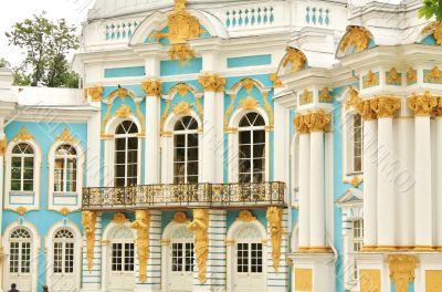 Balcony of the Pavilion `Hermitage` in Tsarskoye Selo