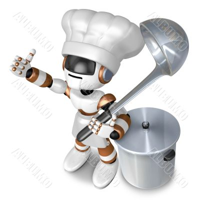 Is the best gesture of a chef. 3D Chef Character