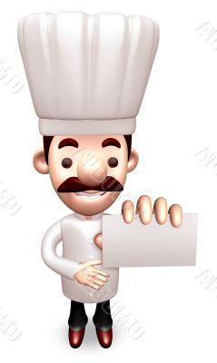 Kindness Chef business cards a present. 3D Chef Character