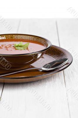 creamy tomato soup bowl