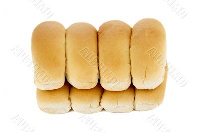 freshly baked hotdog bread