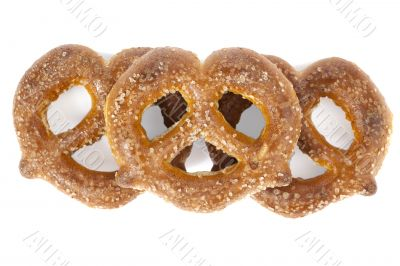 sugar coated knot shape pretzel