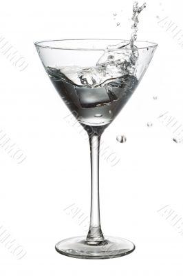 ice cube in martini
