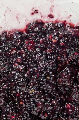 smashed blackberry fruits