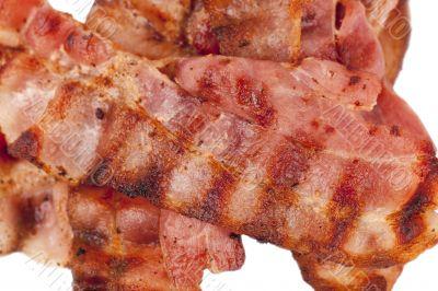 fried crispy bacon