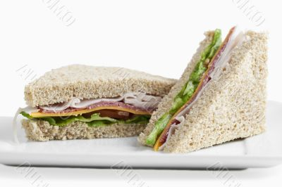 club sandwiches on a plate
