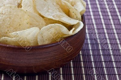 cropped bowl of chips