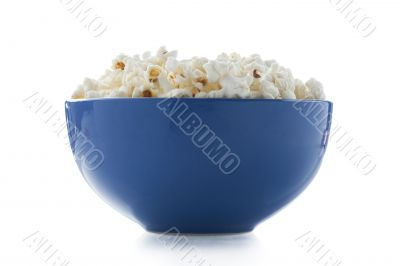 a bowl full of salted popcorn