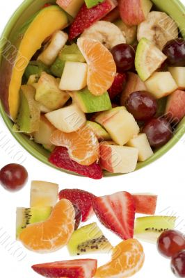bucket full of fruits