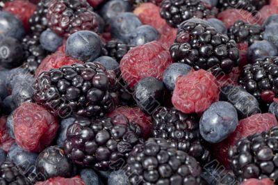 blueberries blackberries and raspberry fruits