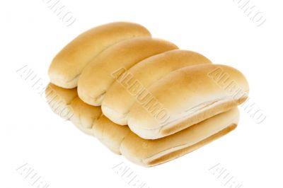 a pile of hotdog bun