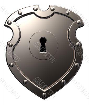 metal shield with keyhole