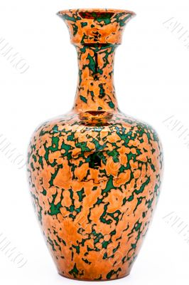 Vase of metallic aspect