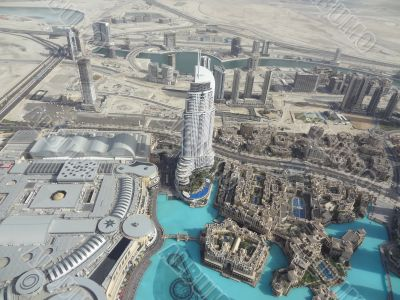 From the observation deck Burj Khalifa