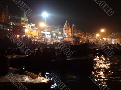 Evening traditional ritual on the Ganges