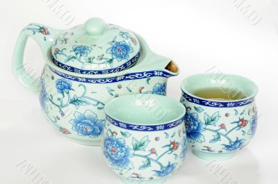Chinese pottery teaset