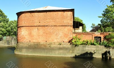 Old building of red brick
