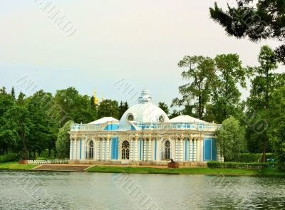 Pavilion `Grotto` in the Catherine Park of Tsarskoye Selo
