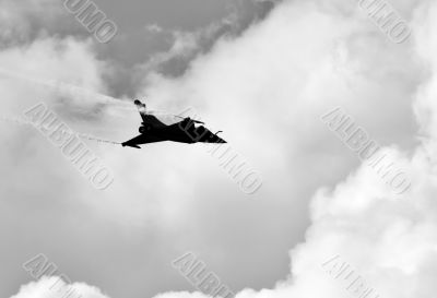 Demonstrative performance by the jet Dassault Rafale at the air