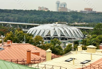 Dome of the sports complex, view from above