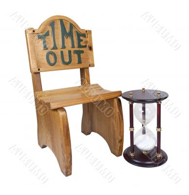 Hour Glass Next to Time Out Chair
