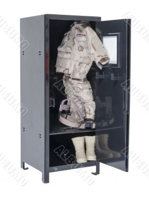Soldier Gear in Locker