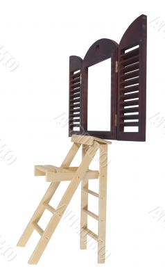 Step Ladder Next to Window