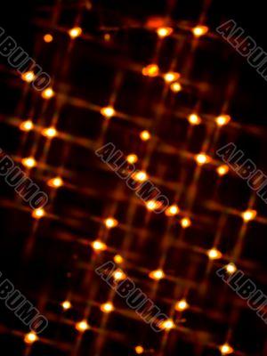 blur decorative orange neon lights