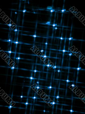 blur view of blue neon lights