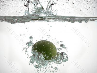 sinking lime in water