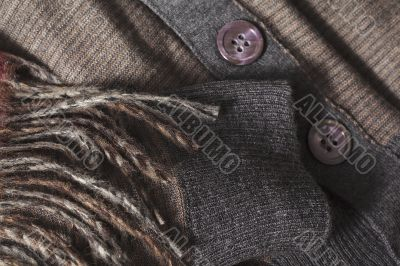 brown clothes and scarf