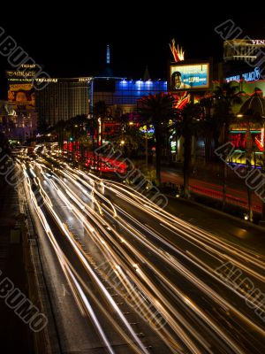 abstract light on the roads of las vegas nevada