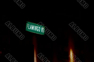 abstract sign for flamingo rd las vegas