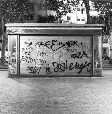 graffiti in barcelona spain