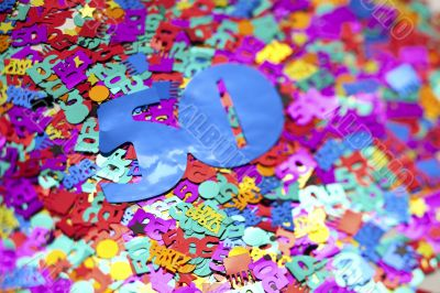 colorful letters cut out