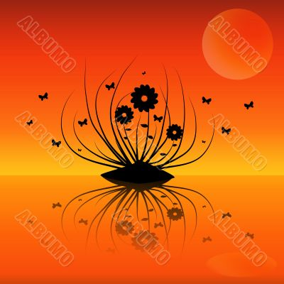 floral background clipart