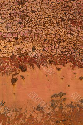 paint rusting off of metal