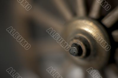 cropped view of a wheel