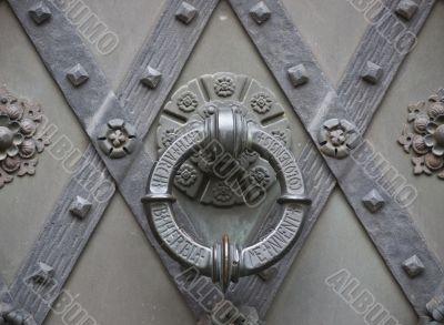 Berlin-St.Elisabeth-door knocker-metal