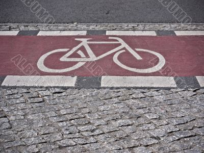 bicycle path-red