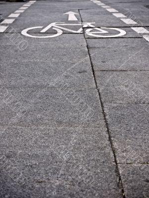 bicycle path-perspektive