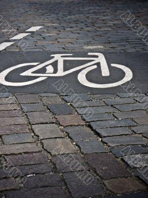 bicycle path-cobblestone
