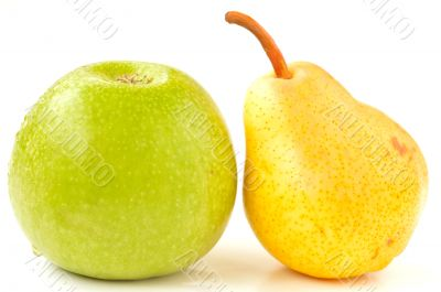 Green apple and pear