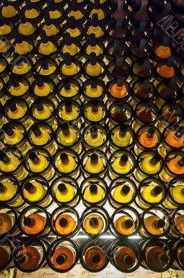 wall of wine racks
