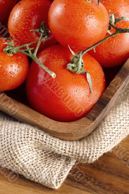pile of red ripe tomatoes