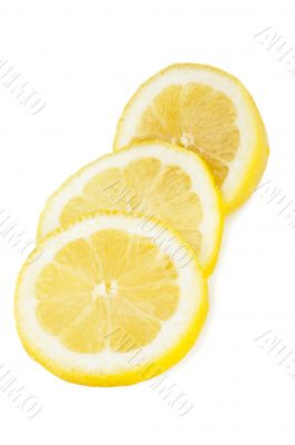 three lemon slices