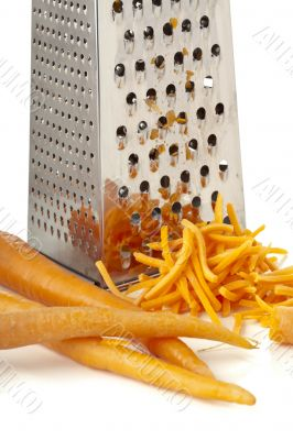 rub carrots and grater