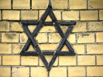 Star of David-Wall-Yellow