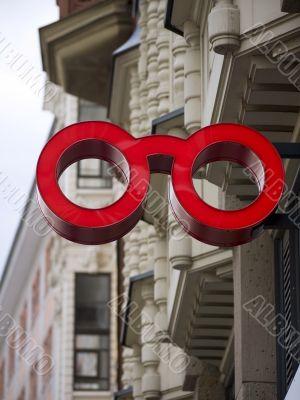 Glasses-Advertising-building