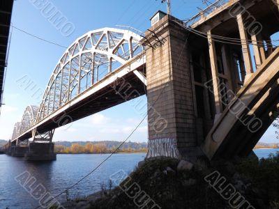 Railway bridge over the Dnieper River
